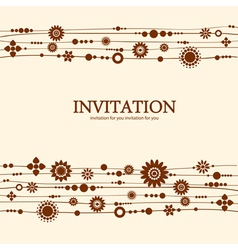 Decorative floral invitation vector