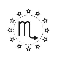 Scorpio sign of the zodiac flat symbol horoscope vector