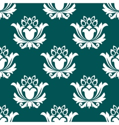 Floral arabesque seamless background pattern vector