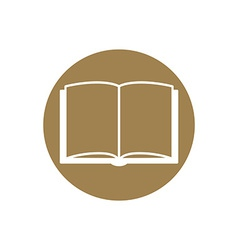 Open book - icon vector image