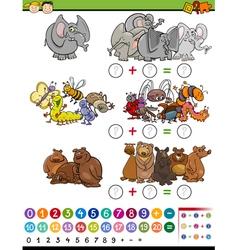 mathematical game cartoon vector image