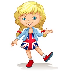 Girl in united kingdom dress vector