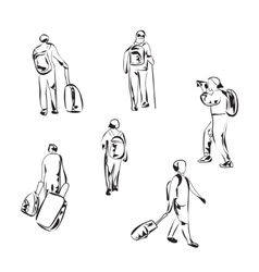 Hand drawn tourist sketch vector