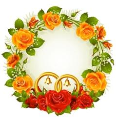flower frame vector image