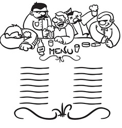Black and white bunch of drunk people vector
