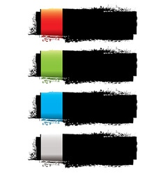 Grunge banner strip vector image