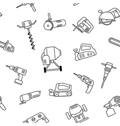 Electric power tools seamless pattern vector