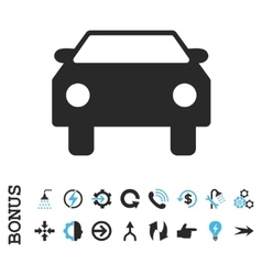 Car flat icon with bonus vector
