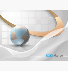 abstract background with globe vector image