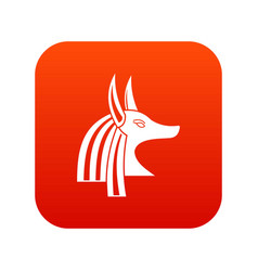 Ancient egyptian god anubis icon digital red vector