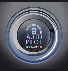 Autopilot button vector