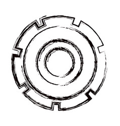 blurred thick contour gear wheel icon vector image vector image