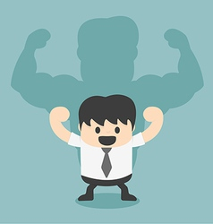Businessman shadow is strong vector image vector image