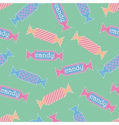 Cartoon Candy pattern vector image vector image