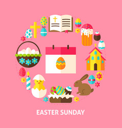 Easter sunday card vector