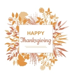 Flat design style Happy Thanksgiving card template vector image