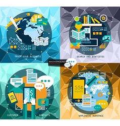 Flat style ui ux to use for your business project vector