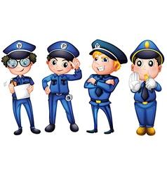 Four policemen vector image vector image