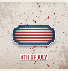 Happy 4th of july banner in american flag style vector