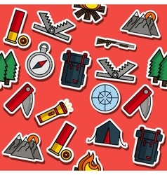 Hunting flat collage vector