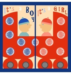 It is a boy It is a girl vector image vector image