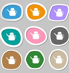 Kettle icon symbols multicolored paper stickers vector