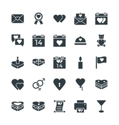 Love and Romance Cool Icons 1 vector image vector image
