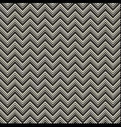 monochrome zigzag geometric seamless pattern vector image vector image