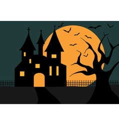 Of a halloween castle vector