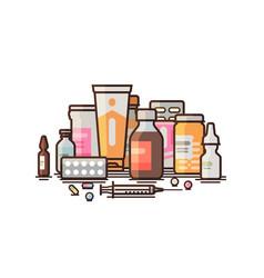 Pharmacy pharmacology drugstore medical vector