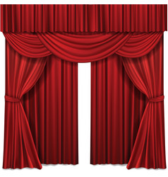 red stage curtains realistic vector image