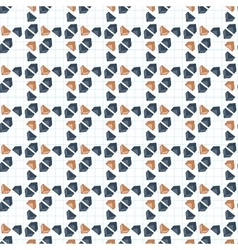 Seamless pattern of primed volume triangles vector