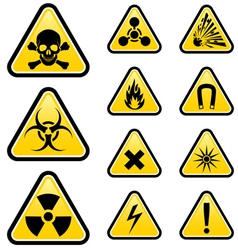 Signs of danger vector image vector image