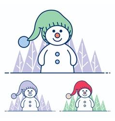 Snowman flat design vector