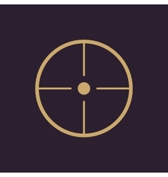 The crosshair icon search symbol flat vector
