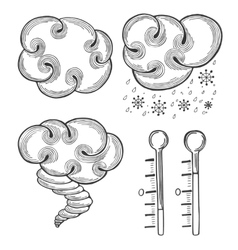 Weather icons set vector