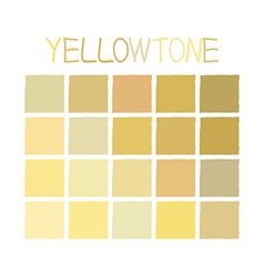Yellowtone color tone without name vector