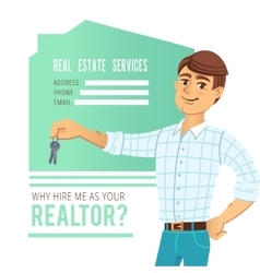 The concept of real estate services agent showing vector