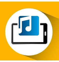 Mobile phone icon music social media vector