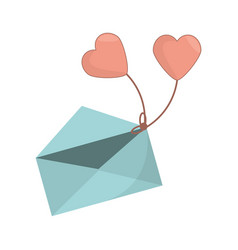 Envelope message heart romance icon vector