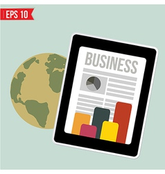 Business news on mobile device - - eps10 vector