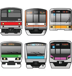 Japanese trains vector