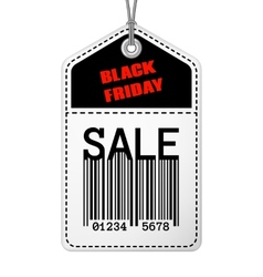 Vintage black friday sale tag vector