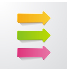 3 arrows vector