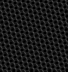 3D cube frame in a seamless pattern vector image