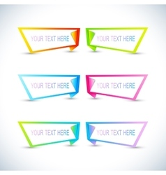 Set of colorful horizontal banners with place for vector