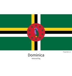 National flag of dominica with correct proportions vector