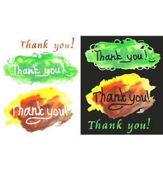Thank you watercolors vector
