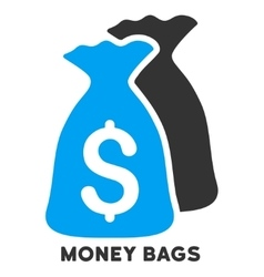 Money bags icon with caption vector