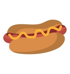 fast food hot dog graphic vector image